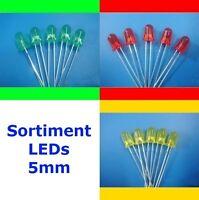 S502 - SET 30 Stück LEDs 5mm rot gelb grün diffus Sortiment