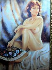 Dipinto donna nuda nuda atto immagine parete 90x70 senza cornice MDF d2 pannello posteriore