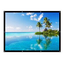 "120"" Inch 4:3 Electric Projector Screen Auto Remote Control Home Theater Screen"