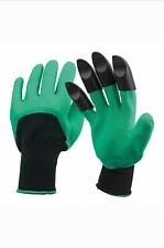 GARDEN DIGGING GLOVES FOR DIGGING & PLANTING WITH 4 ABS PLASTIC CLAWS GARDENING