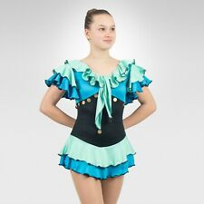 Ice Skating Figure Skating Mint/Turquoise spandex size XSmall Adult