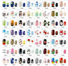 Nail Art Wraps Self Adhesive Polish Foils Tips Full Stickers Decals Multi Styles