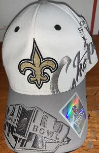 Men's New Orleans Saints Reebok Super Bowl XLIV 44 Trophy Collection Hat