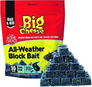 BIG CHEESE PROFESSIONAL STRENGTH BLOCK BAIT RAT & MOUSE KILLER POISON STV