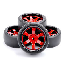 4X 12mm Hex RC DriftTires Wheel Rim For HPI HSP 1:10 Off-Road Car D6NKR+PP0477