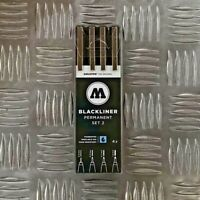 Molotow Blackliner Set 2 - 4 Markers