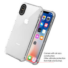 IPHONE X 10 XS CLEAR TPU DROP PROTECTION FLEXIBLE  CASE USA SELLER