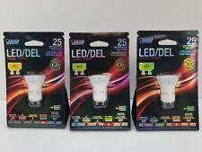 FEIT Electric MR11 GU10 LED Bulb Warm White 25 Watt Equivalence 1 pk - Lot of 3
