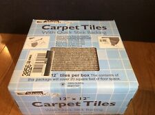 "Shaw Berber Carpet Tiles Peel and Stick 12""x12"" 20 Tiles 20 sq/ft New"