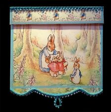 PRETTY  PETER RABBIT BLIND / CURTAIN FOR DOLLS HOUSE NURSERY ROOM BY SYLVIA ROSE