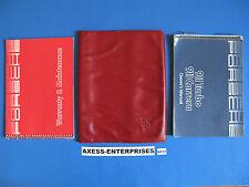 1986 Porsche 911 Turbo / 911 Carrera Owner Manuals Operator Books Pouch Set H117