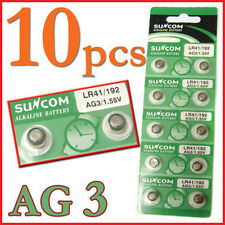 Useful 10 pcs AG3 SG3 LR41 192 Alkaline coin Button coin Cell Battery Suncom L7S