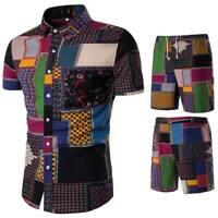 Men's summer floral tops slim fit shirt casual dress formal stylish luxury shirt