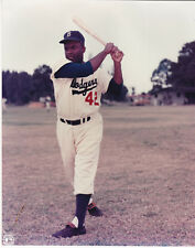 JACKIE ROBINSON DODGERS HOF OFFICIAL MLB BASEBALL COLOR UNSIGNED 8X10 PHOTO