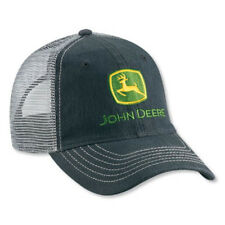 John Deere Faded Black Denim Cap with Gray Mesh Back Adjustable LP49310