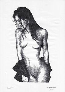 original drawing A3 11StA art samovar Ink female nude hardware technology