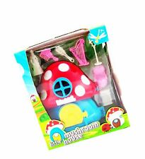 Little Mushroom House Doll Toys Set Children Birthday Play Gift Accessory Kids