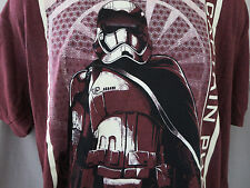 New Mens Large STAR WARS CAPTAIN PHASMA T-Shirt The Force Awakens Rust Color