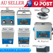 0.4-3L Ultrasonic Cleaner w/ Timer&Heater Industrial Ultrasound Cleaning Machine