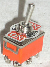 1 NEW DPDT ON-OFF-MOMENTARY TOGGLE SWITCH 15 A AMP 15A ON-OFF-SPRING ONE WAY USA