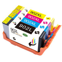 4 X 902XL 902 L Ink Cartridges Replace for HP Officejet Pro 6968 6954 6978
