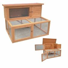 4ft Large Rabbit Hutch With Under Run Ferret Guinea Pig House Home Wood