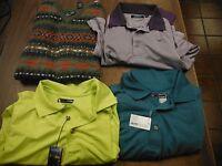 Golf Shirt Lot of 4 Pcs, 1 XL Vest, 2 NWT Shirts Size L Pebble Beach 091615ame2