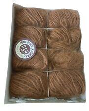 Yarn 100% Angora Rabbit Hair Lot of 8 Pecan/Med brown