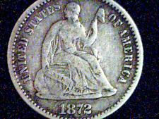 1872 Seated Liberty Half Dime