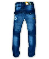 MEN'S GSTAR G-STAR RAW 96 HERITAGE EMBRO LOOSE FIT TAPERED JEANS BLUE STONE WASH
