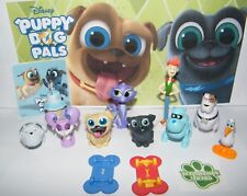 Disney Puppy Dog Pals Figure Set of 12 With Skateboards, Sticker and PAW Tattoo