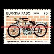 POPE 1000 V-Twin 1913 - BURKINA FASO Moto Timbre Poste