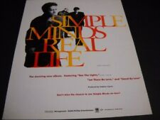 SIMPLE MINDS Real Life is the stunning new album... 1991 Promo Poster Ad
