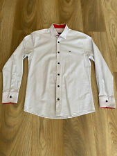 Tommy Hillfiger White Polka Dot Shirt Long Sleeve Size Medium