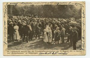 GERMANY 1911 Karl Liebknecht postcard Politics Propaganda