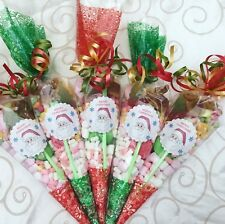 10 X Pre Filled Christmas Sweet Cones