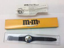 1996 M&M's Mars Watch Blue M&M Playing Saxophone Quartz MIB