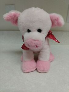 """Dan Dee Collector's Choice Oinking Plush 11"""" Pig With Red Bandana ~ GUC"""