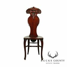 Antique Northwind Carved Mahogany Hall Chair