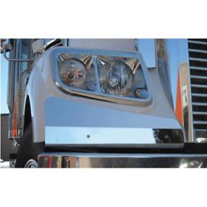 Pair of S/S Headlight Panels To Suit Freightliner Coronado