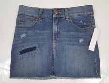 JOE'S Girls Denim Skirt Blue Jeans Cutoff Distressed Size 14 NWT