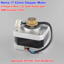 NEMA17 Stepper Motor 2-Phase-4-Wire CNC 5mm shaft Pulley RepRap Prusa 3D Printer