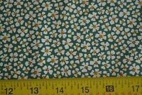 By 1/2 Yd, White on Green Quilting, Japan, Moda/Le Petit Poulet/21503 14, B64