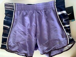 NEW NIKE [XS] Womens DRI-FIT Running Shorts-Lilac 520353-562