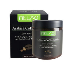 MELAO Coffee Exfoliating Body Scrub Cellulite Reduce Skin Arabica Natural Cream