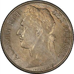 Belgian Congo 1922 Franc TONED ABOUT UNC