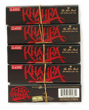 5 booklets - WIZ KHALIFA new RAW CONNOISSEUR King size Hemp Rolling paper + TIPS
