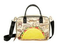 Betsey Johnson 💋 NWT Crossbody LETS TACO ABOUT IT Insulated Lunch Tote Zip
