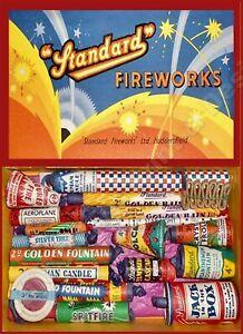 VINTAGE STYLE RETRO METAL PLAQUE ;Standard Fireworks Hudderfield: Ad/Sign
