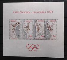 MONACO #1418. SOUVENIR SHEET, LA OLYMPICS 1984. MNH